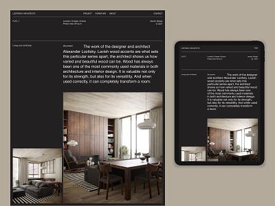 Web Site for LOZITSKIIY ARCHITECTS website ux graphic web minimal ui typography design