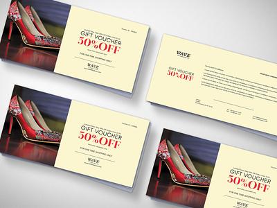 Foot Wear Gift Voucher Design Template design template menu design template designs web psd mockup psd menu design latest 2020 menu illustration design
