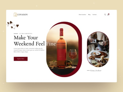 Product Web UI Exploration || 2021 concept uiuxdesign wine product website best top minimal dribbble best shot 2021 trend landingpage homepage ui designer ui design uidesign ui  ux uiux website design web design webdesign web