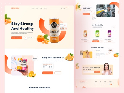 Product Web UI Exploration || 2021 red design concept juice product website top popular design dribbble best shot minimal 2021 trend landingpage homepage uiux design ui designer uidesign ui  ux uiux website design webdesign web design web