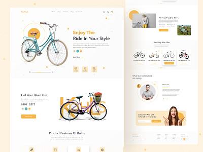 Product Web UI Exploration || 2021 concept cycle product website best top dribbble best shot minimal 2021 trend landingpage homepage uidesigner ui design uidesign uiuxdesign ui  ux uiux website design webdesign web design web