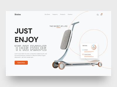 Product Web UI Exploration    2021 web interface ui buyer shop header uiux product