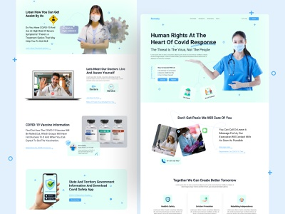 Covid-19 Web UI Exploration || 2021 doctor medical care medical clean ui vaccine coronavirus covid-19 hospital healthcare landingpage dribbble best shot minimal uidesigner uxdesign uidesign uiux webdesign web design web
