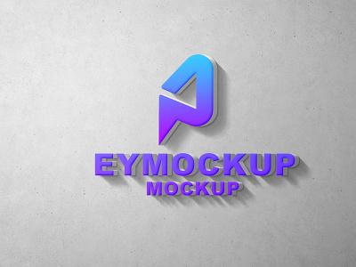 3D Wall Logo Mockup web ux ui icon vector logo business branding design mockup
