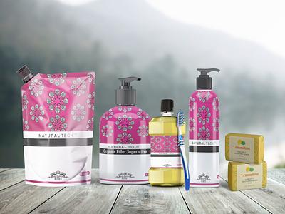 Floral Cosmetic Organic Mockup typography ux illustration ui logo vector business branding design