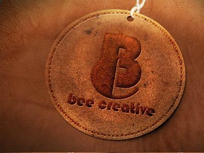 Embossed Premium Leather Logo Mockup typography ux illustration ui logo vector business branding design