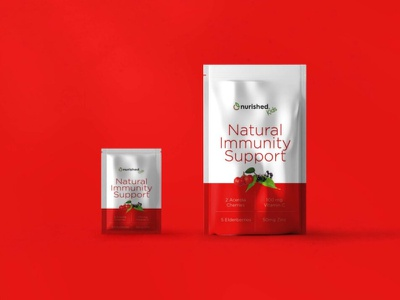 Immunity Booster Pouch Mockup