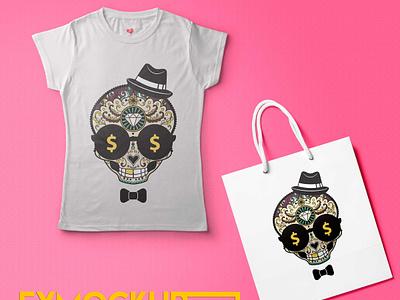 T-Shirt Bag Mockup Template illustration business latest cool best premium new psd mockup bag tshirt