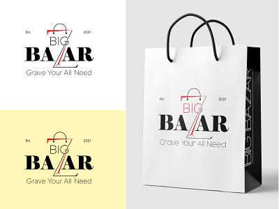 Big Bazar logo design logo creation shop logo minimal logo dribbble logo software logo design logo idea logo designer branding brand identity logo flat logo design logo mark