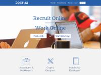 Recrua homepage