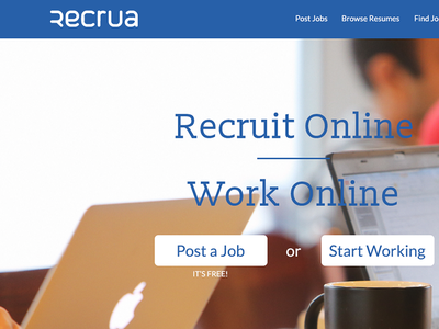 Recrua Homepage nelo matias canobra web website design web design