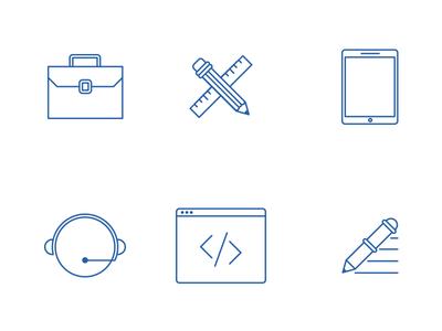 Recrua Icons nelo matias canobra web design website design icon design
