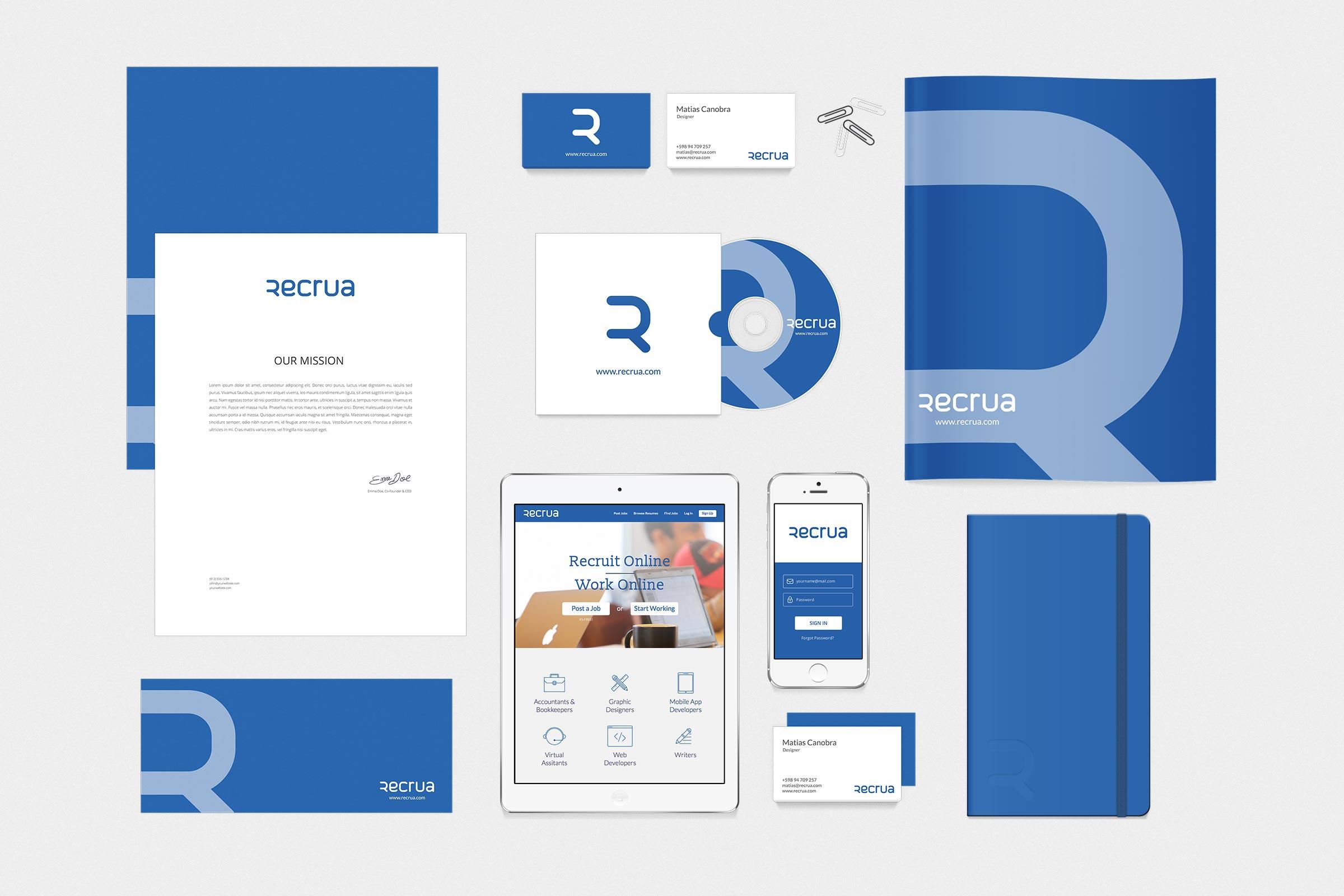 Recrua branding