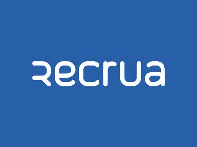 Recrua Logo & Stationary nelo matias canobra branding stationary typography custom typography logo logo design