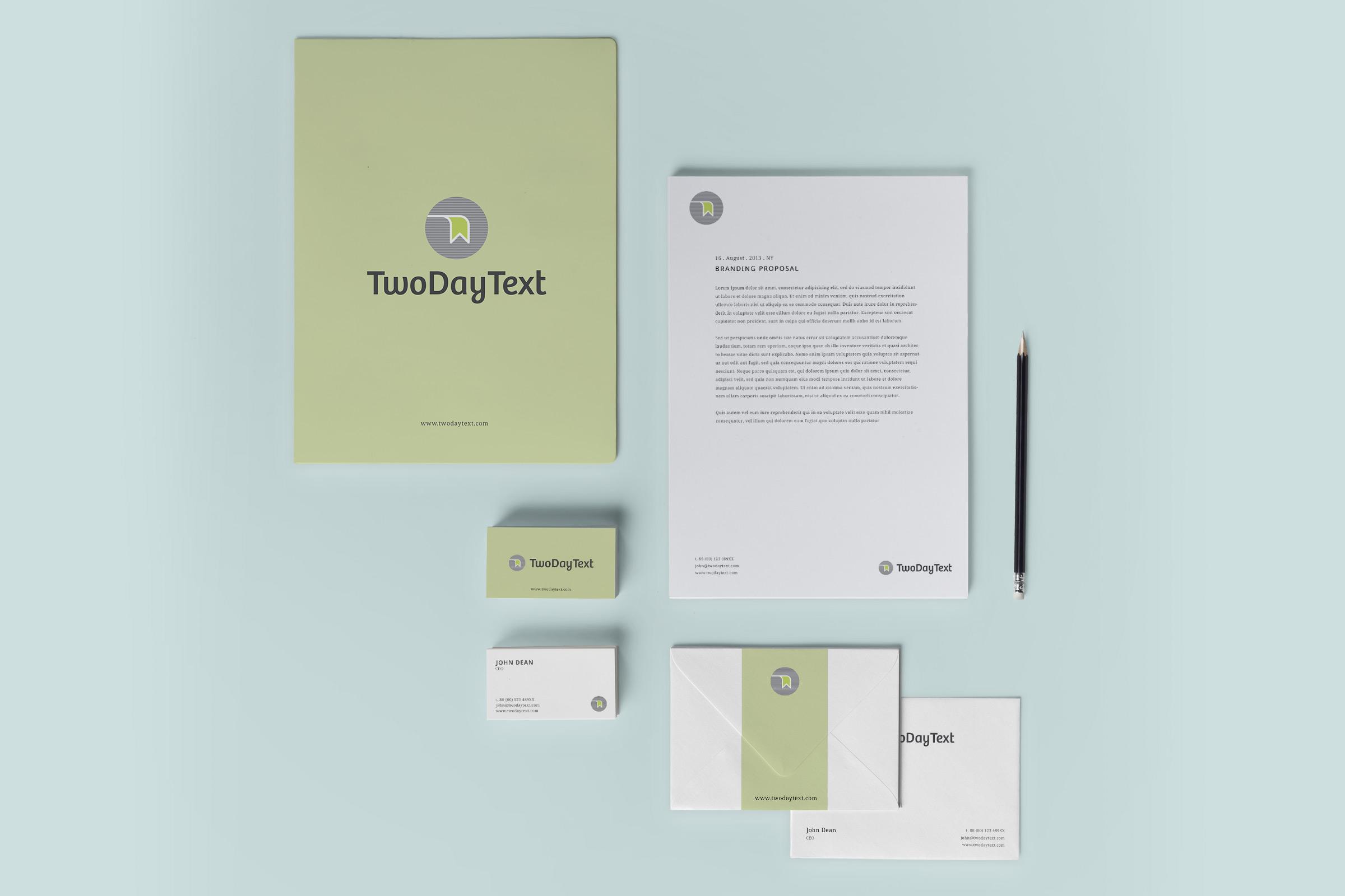 Twodaytext branding