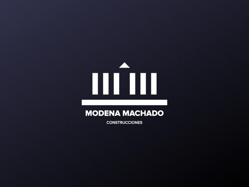 Módena Machado Logo design diseño de logos diseño nelo design nelo matias canobra branding architecture construction logo design logo