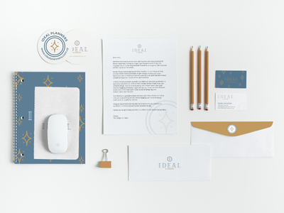 Ideal Planners Stationary wedding branding stationary logo design logo