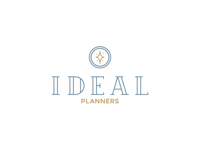 Ideal Planners - Logo design branding typography icon design logo design logo