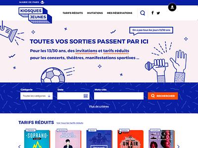 Identity & illustrations Kiosques Jeunes patterns illustration flat vector