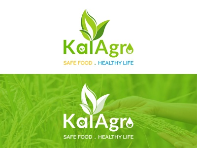 Logo Project (Kal Agro) graphic design illustrator vector flat minimal illustration logo branding typography design