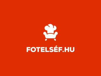 Couch Chef Logo type flat web branding app vector icon typography ui design logo illustration