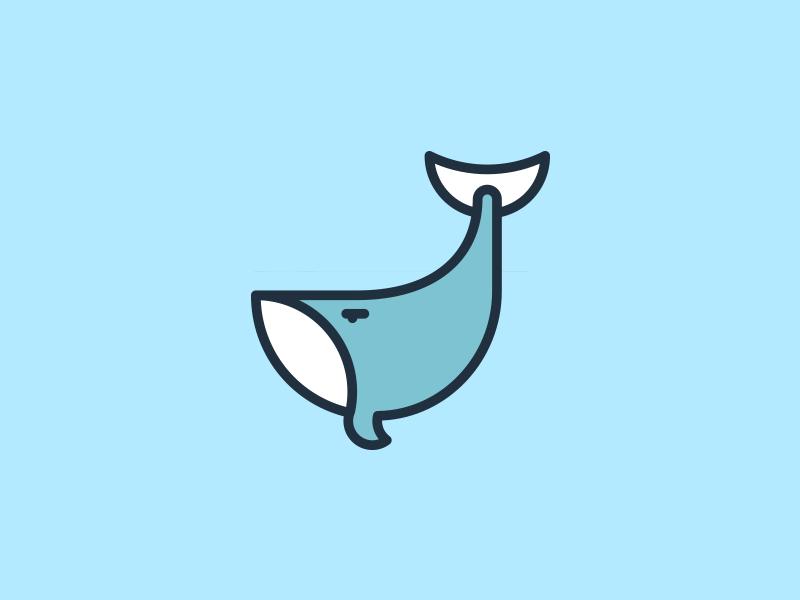 Whale icon vector ux ui illustrator ocean minimal icons graphic design icon design icon