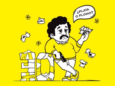 Pablo Escobar cocaine netflix narcos colombia cartel pablo escobar pablo illustration