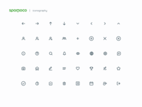 Spomoco Icons iconography icon collection web interface design ios design app design ui design line icon icons ui icon design icon