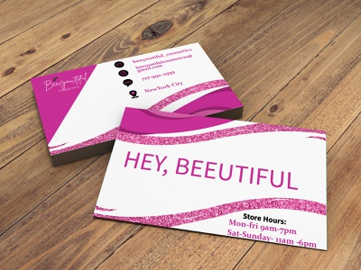 Hey, Beeutiful (Business Cards ) party cards event cards business cards buisnesslogo branding branding and identity