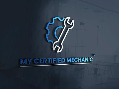My Certified Mechanic illustration graphicdesign design logo corporate identity buisnesslogo branding branding and identity