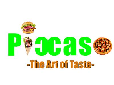 PICCASO (The Art of Taste) logo design graphicdesign corporate identity buisnesslogo food brand logo branding branding and identity
