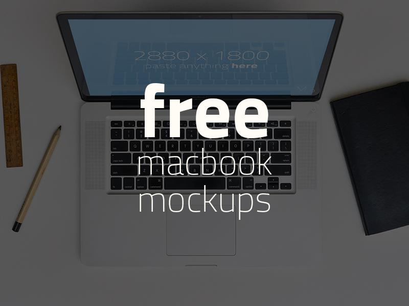 FREE 3 Macbook Mockups! pc screen computer apple macbook mockup psd free