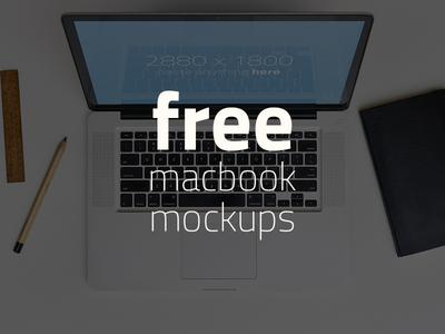 FREE 3 Macbook Mockups!