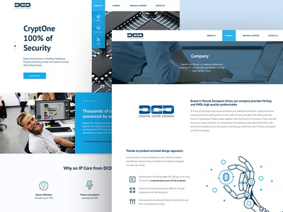 DCD - Page Design ux ui design computers pc it microprocessors technology home page about us