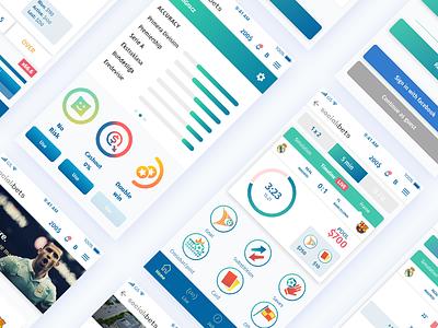 Social Bets - App Design ux sport app application design ui