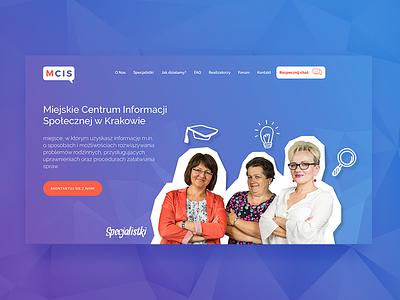 MCIS Page Design ux typography ui design
