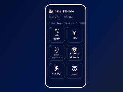 Smart Home dailyui app flat ui design
