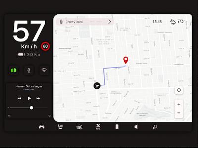 Car Interface daily ui 034 daily ui dark flat design