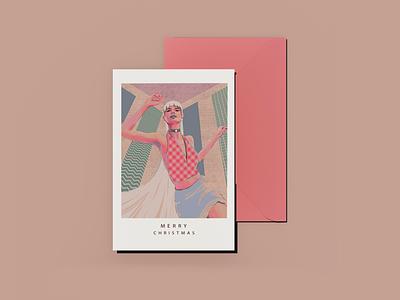 Postal card illustration dancing girl melina ghadimi cover art postal card wall art illustration