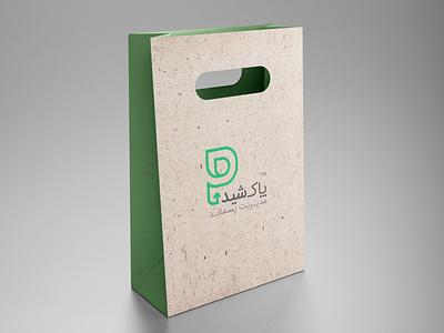 Pakshid logo design shopping bag design shopping bag brand identity branding melina ghadimi waste management waste management logo logotype monogram logo design visual identity design