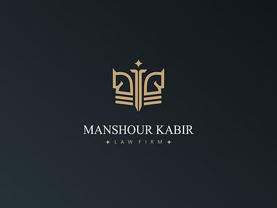 Manshur kabir logo design melina ghadimi logosign logo design lawyer logo law logo law firm justice identity design grama studio creative logo chess logo branding brand identity design brand