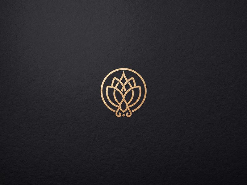 Lotus Line Abstract Flower Logo brand branding illustration identity monogram template elegant design cosmetics boutique beauty salon beauty logo lotus logotype logo design logo
