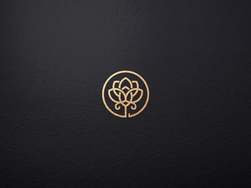 Lotus Flower Logo template monogram lotus logotype logo design logo illustration identity elegant design cosmetics branding brand boutique beauty salon beauty logo