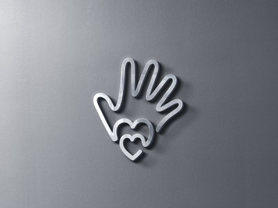 Hand Love Charity Logo identity logotype monoline logo logo design human hand helping hand hand logo charity organization charity foundation logo united hearts hearts logo care logo love logo hand help hand charity logo