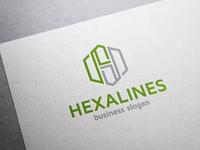Hexalines H Letter Logo