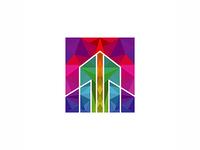 Colorful Polygon Real Estate Logo