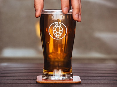 Beer Hop Cone Logo