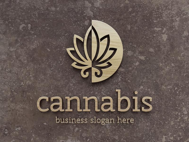 Cannabis Leaf Logo cbd template drugs cannabis cure marijuana weed medical marijuana cannabis leaf monogram logo design brand identity logotype logo
