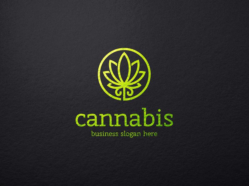 Cannabis Logo identity logo design ganja seed cbd eco logotype simple organic template drugs hemp cannabis cure marijuana weed medical marijuana herb logo cannabis leaf