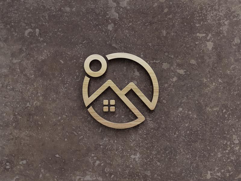 House Real Estate Logo brand logo design identity monogram template property creative design house logo home logo logomark logotype real estate h logo h house home logo